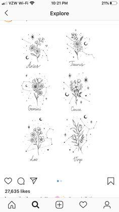 Horoscope Tattoos, Taurus Tattoos, Bff Tattoos, Zodiac Tattoos, Dainty Tattoos, Little Tattoos, Mini Tattoos, Future Tattoos, Small Tattoos