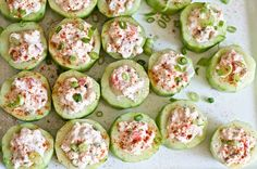 Cucumber Cups Stuffed with Spicy Crab - Domestic Fits