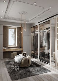 Feeling inspired to revamp your closet? We have a few splendid and imposing ideas! Walk In Closet Design, Bedroom Closet Design, Home Room Design, Closet Designs, Home Interior Design, House Design, Office Designs, Kitchen Interior, Casa Art Deco