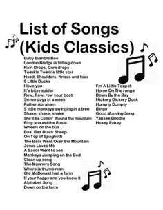 10 Preschool Transitions-- Songs and Chants to Help Your