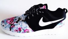02f8990b7a43 Cheap Comfort Nike Roshe One Flower Online White Black Lady Shoes at Nike  Online Store