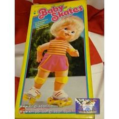 Baby skates  - Schettina da sola a carica senza batterie - Alta circa 31 cm. -  Doll- Bambola - Cod.5912 - Mattel - 1983