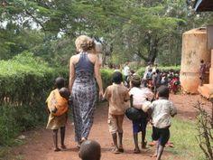 visiting orphans in Uganda