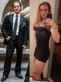 Day of HRT! Male To Female Transgender, Transgender People, Transgender Girls, Male To Female Transition, Mtf Transition, Transgender Before And After, Mtf Before And After, Trans Mtf, Men Wearing Dresses