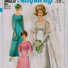 Vintage wedding dress pattern.