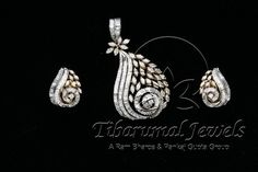 Tiraa by Tibarumal Jewels Gold Pendent, Diamond Pendant Set, Diamond Jewelry, Bridal Necklace Set, Bridal Jewelry, Fancy Jewellery, Fine Jewelry, Diamond Girl, Diamond Design