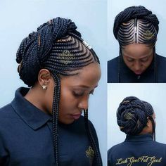 All styles of box braids to sublimate her hair afro On long box braids, everything is allowed! For fans of all kinds of buns, Afro braids in XXL bun bun work as well as the low glamorous bun Zoe Kravitz. Box Braids Hairstyles, My Hairstyle, African Hairstyles, Popular Hairstyles, Wedding Hairstyles, Heatless Hairstyles, Ghana Braids, Fulani Braids, Braided Hairstyles For Black Women