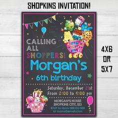 Shopkins invitation Shopkins birthday by SuperInstantParty on Etsy