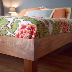 learn how to make your own king size west elm boerum bed frame for just