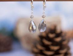 Mystic Labradorite Sterling Silver Earrings by Noduri on Etsy, $35.00