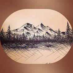 doodling mountains