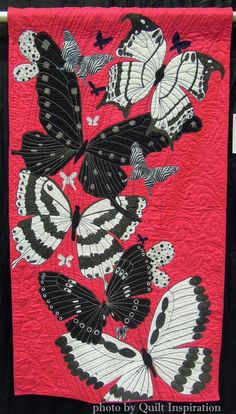 Butterfly Ballet by Barbara A. Stewart. 2015 World Quilt Show, WINGS challenge.  Photo by Quilt Inspiration.