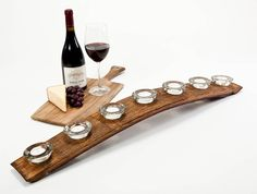 Image result for wine barrel stave candle holder by wine barrel creations