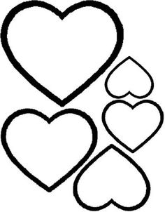 Nápady do školky: Srdce - šablony