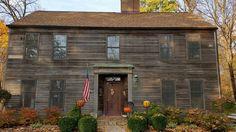 Saltbox house ready for Halloween