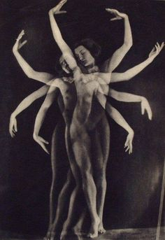 """'Danse'. Original vintage photogravure by YVA [Else Simon] (German, 1900-1942), 1933."""