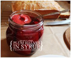 Cupcake Rehab - Canned plum halves in syrup.