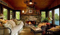 Cozy Porch - traditional - porch - minneapolis - Lands End Development - Designers & Builders