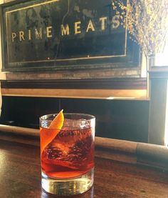 It's about that time: #negroni time. Especially if your as lucky as @wmbrownproject and find yourself at @primemeats  #TravelerInNewYork by cntraveler