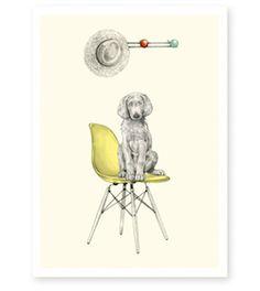 Affiche Eames 21x29,7cm 16€