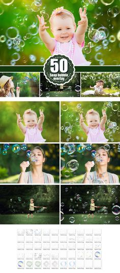 Bubbles Photoshop Overlays: Realistic Soap air bubbles Photo effect, Outdoor photo Sessions, Photoshop Overlay, Photo Overlays,