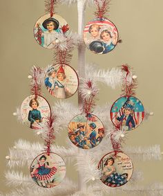 Another great find on #zulily! Americana Disk Ornament - Set of Eight #zulilyfinds
