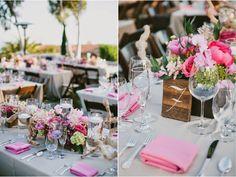Fabulous Pink Outdoors Wedding | bellethemagazine.com