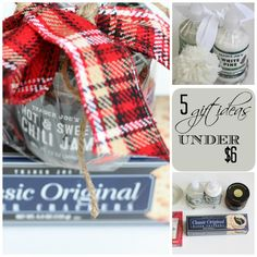 5 Gift Ideas Under $6 | Love of Home. Still need that last minute gift? Here are 5 easy and affordable ideas!