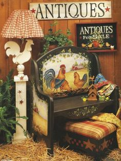 The Country Club Rooster Art Decorative Tole Painting Craft Book