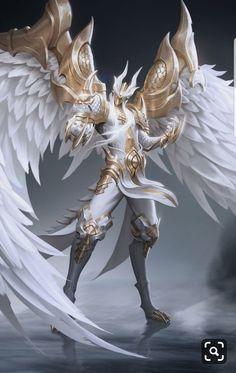 Angelic Dragon Male Reader x Harem Dark Fantasy Art, Fantasy Armor, Fantasy Character Design, Character Inspiration, Character Art, Character Concept, Angel Warrior, Dark Warrior, Mythical Creatures Art