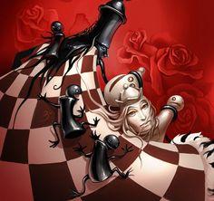 M.C. Escher-esque Chess Art