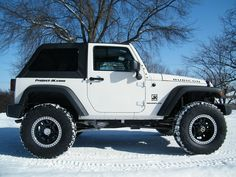 JK Show & Tell - White JK's w/ post pics - All of you with white JK's please post your pics. Two Door Jeep Wrangler, 2 Door Jeep, Jeep Wrangler Sport, Jeep Jk, Wrangler Jk, 35 Inch Tires, White Jeep, Sport 2, Top Destinations