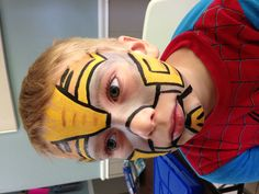 Face Painting - Transformers Bumblebee