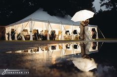 Check out this gorgeous rained out wedding!  It was a tented outdoor wedding with 100% chance of rain!