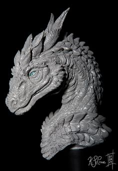 Steinir Dragon Sculpture (Walkthrough Blog) by Dreamspirit on DeviantArt