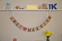 Just Married Banner by JKreations2013 on Etsy, $17.50