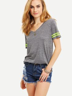 Light+Grey+Short+Sleeve+Basic+T-shirt+8.99