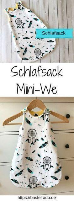 Sac de couchage Mini-We - instructions de couture y compris le patron de couture Baby Clothes Patterns, Sewing Patterns Free, Free Sewing, Clothing Patterns, Knitting Patterns, Pattern Sewing, Baby Patterns, Crochet Pattern, Sewing Projects For Beginners