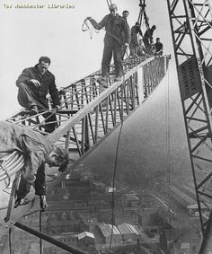 Construction of CIS building, c.1963 |