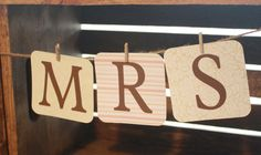 """Custom Order """"Mr. Mrs."""" banner $8.75 