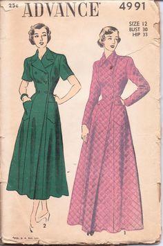 advance 4991 vintage pattern
