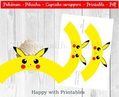 Pokémon GO cupcake wrappers Pikachu cupcake wrappers | Etsy Pokemon Cupcakes, Pokemon Party, Pokemon Birthday, Pokemon Go, Pikachu Pikachu, 6th Birthday Parties, Boy Birthday, Pokemon Printables, Cupcake Wrappers