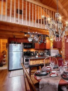 log cabin kitchens photos | the cabin our hocking hills cabin is a luxury log cabin we believe ... Log Cabin Kitchens, Hocking Hills Cabins, Luxury Log Cabins, Remodeling Mobile Homes, Kitchen Photos, Queen Beds, Remodeling Ideas, Weekend Getaways, Kitchen Remodel