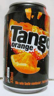 LATAS Y BOTELLAS COLECCIÓN: LATA TANGO ORANGE 330ML , ORIGEN INGLATERRA  2011 Tango, Orange Drinks, Fanta Can, Soft Drink, Packaging Design, Beverages, Canning, Pop, School