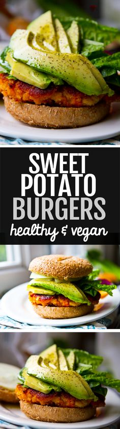 16 High-Fiber Dinners That Are Actually Delicious AF Homemade Sweet Potato Burgers (Vegan, Healthy) Sweet Potato Burgers, Sweet Potato Recipes, Vegetable Recipes, Vegetarian Recipes, Healthy Recipes, Veggie Burgers, Vegetarian Barbecue, Beef Burgers, Vegetarian Cooking
