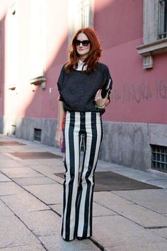 Love the stripes. womens fashion and street style. find more women fashion on misspool.com