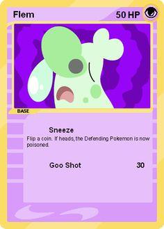 Flem card by Cerulebell Fake Pokemon Cards, Deviantart