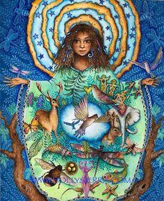 Earth Empress - The Heart of Nature Art Paintings, Original Paintings, Goddess Art, Earth Goddess, Mystique, Pop Surrealism, Visionary Art, Funny Art, Illustrations