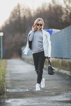 darya kamalova thecablook fashion lifestyle russian italian blogger wears asos total look with nike white air force and proenza schouler ps11 black bag-9812