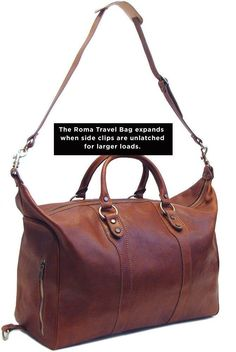1b3d8850ab74 Roma Full Grain Leather Travel Bag – Floto Кожаные Сумки, Кожаные Сумки,  Изделия Кожа